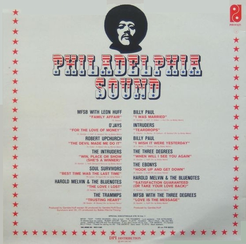 "Various Artists : Philadelphia Sound "" Special Discotheques Volume 2 "" Philadelphia International Records ‎PIR 80572 [ FR ]"