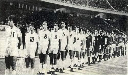 BENCHEIKH en 8 contre la Tunisie 1977
