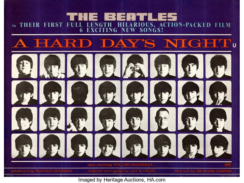 A HARD DAY'S NIGHT BOX OFFICE USA 1964