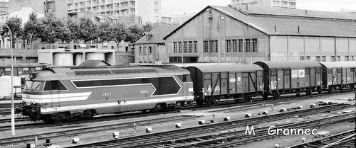 La BB 67476 arrive à Brest