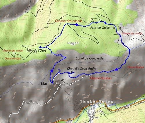 Llar, le chemin Vauban et le chemin des canons