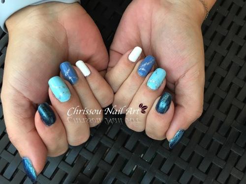 Camaieu bleu