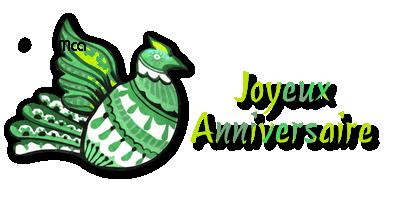 Texte décoré : Joyeux Anniversaire