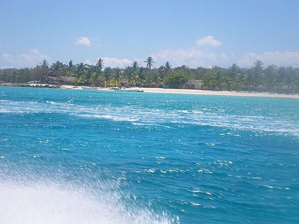 vers l'île de Saona en bateau rapide -6-