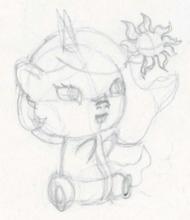 Entrainement au dessin   Des dessins de poneys ~