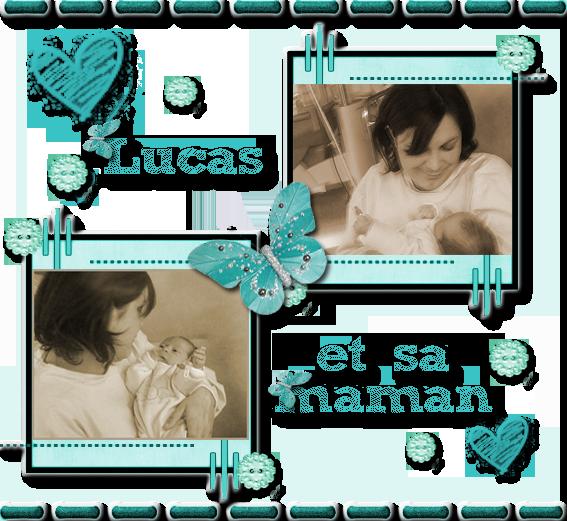 Lucas et sa maman