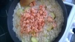risotto crevettes- courgette