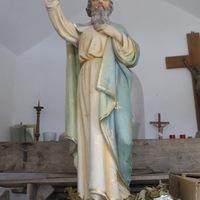 La statue avant réstauration