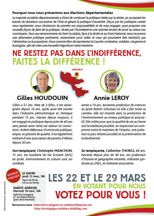 Elections Départementales 22-29 mars : un large accord à gauche !