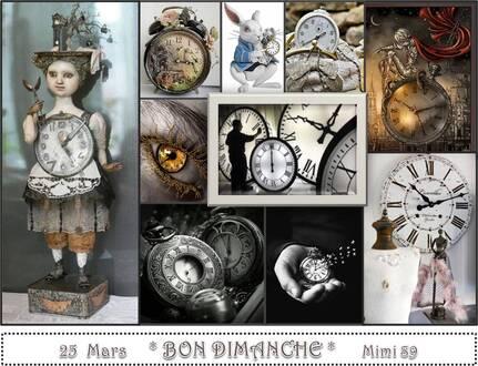 Carte Bon Dimanche - Le temps qui passe !
