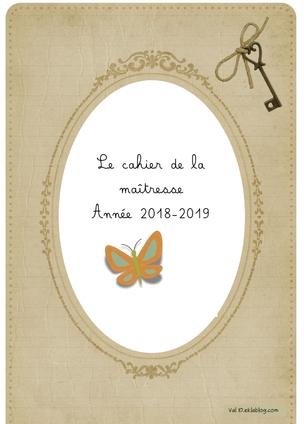 Cahier de maîtresse version 2018-2018