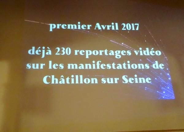 Pierre Magès a présenté ses vidéos le 1er avril salle des conférences de l'Hôtel de Ville