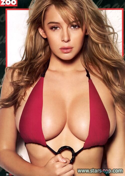 keeley hazell very hot lingrerie et décolleté