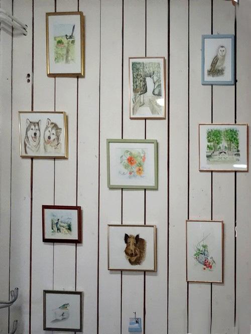 Chantal Archambaud expose ses aquarelles chez Laurence Petit, potière à Prusly sur Ource