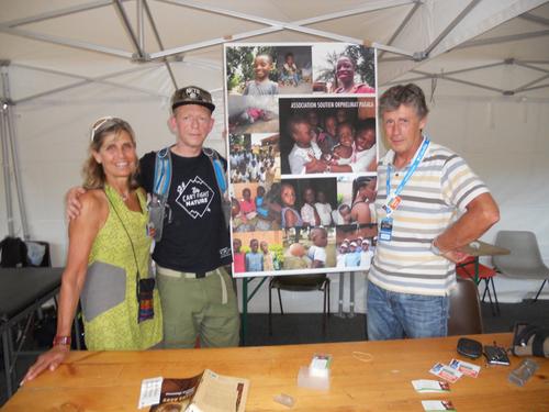 notre stand à l'ultra trail du Mt Blanc