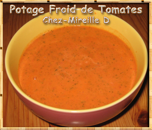 Potage Froid de Tomates