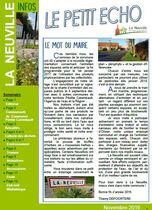 Découvrez le Petit Echo de novembre 2016, journal communal de La Neuville
