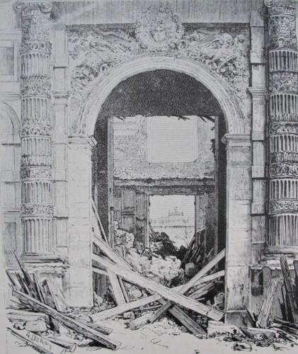 Palais des Tuileries gravure porte