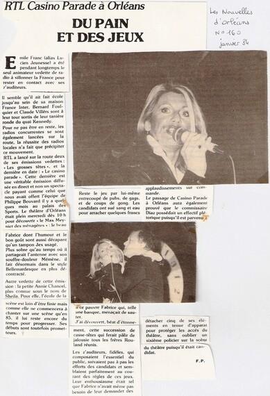 11 janvier 1984 : Casino Parade à Orléans sur RTL