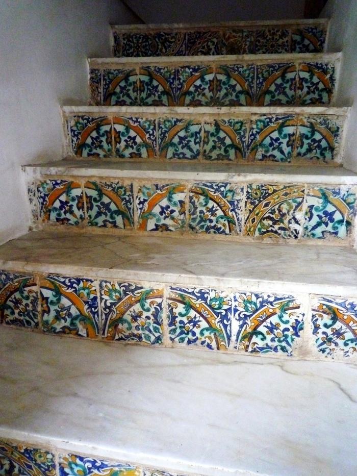 Escalier d'un temple.