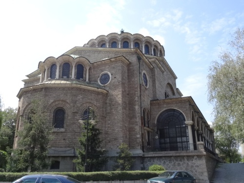 Sofia: la cathédrale Zainte Nédélia et le boulevard Vitosça (photos)
