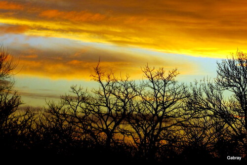 Le ciel du matin en janvier...