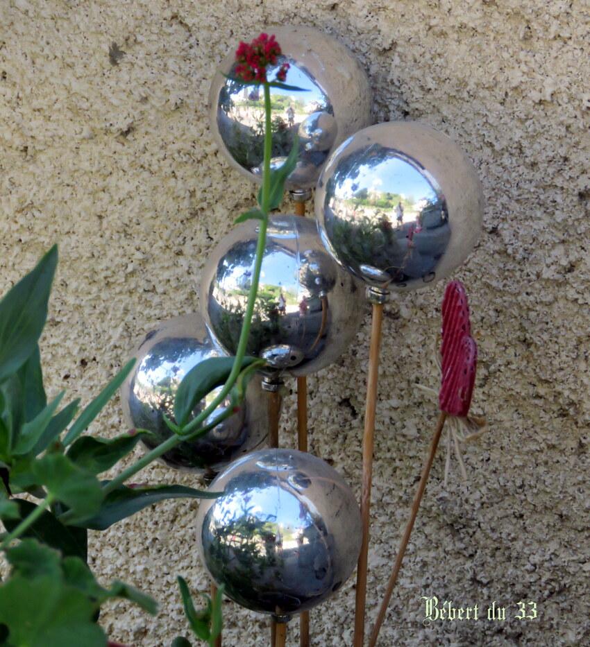 reflets sur boules