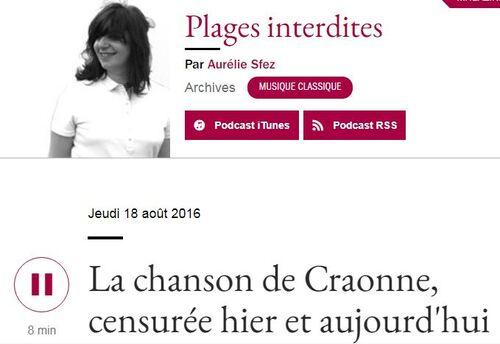 """""""La Chanson de Craonne"""", toujours aussi chargée d'insoumission! Réécouter France Musique..."""