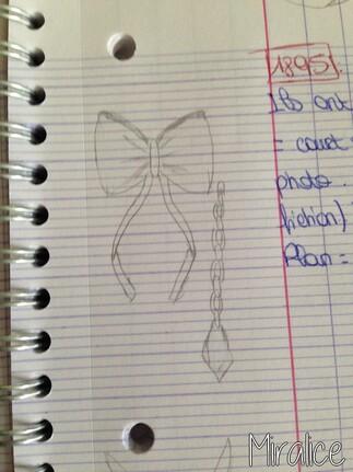 Dessin n°1 : nœud de papillon