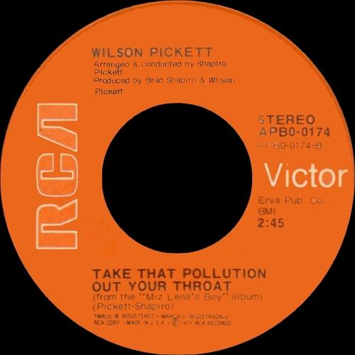 "Wilson Pickett : Album "" Miz Lena's Boy "" RCA Victor Records APL1-0312 [ US ]"
