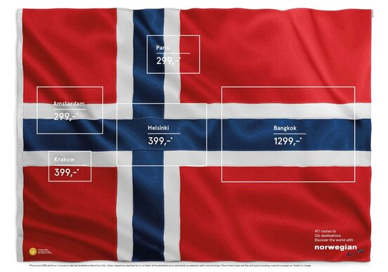 Norwegian Airlines - Drapeau Pub