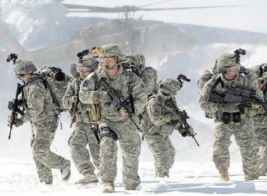US military drill in the Arctic