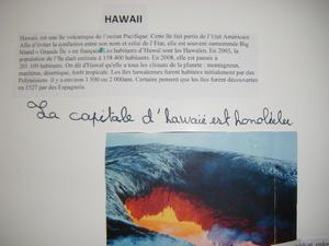 Exposé sur Hawaii