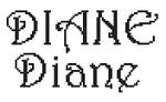 Dictons de la Ste Diane + grille prénom !