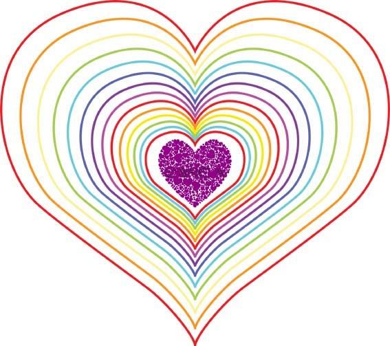 Coeur arc en ciel le blog de kikyne - Image de coeur a colorier ...