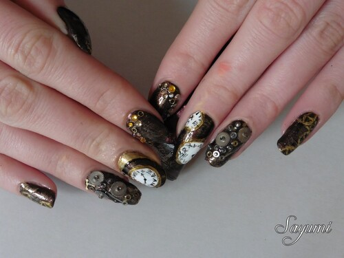 Nail Art Steampunk