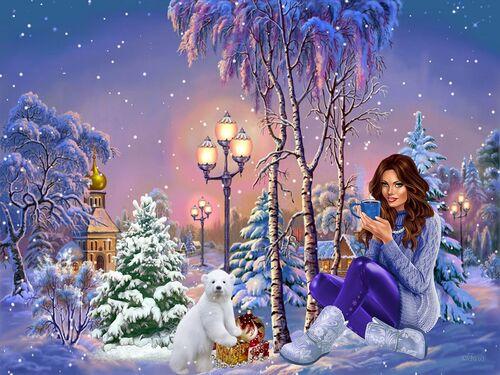 Fond d'écran hiver du 2 décembre dimensions 1152 x 864