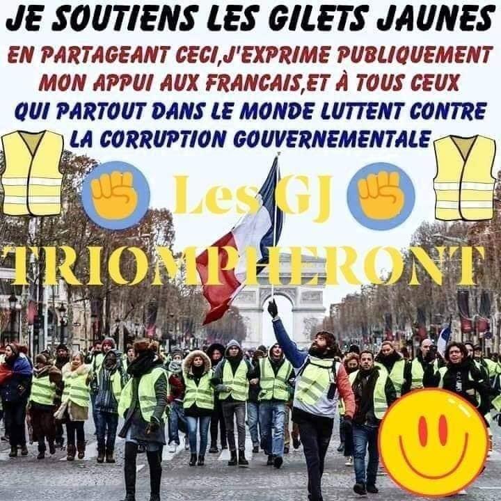 Je soutiens les Gilets Jaunes