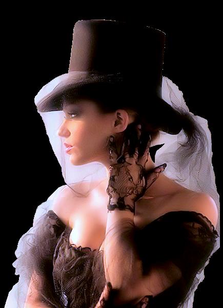 Tubes femmes chapeaux création 1