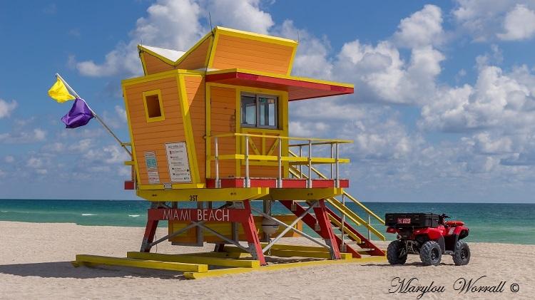 Floride : Postes de secours de Miami Beach