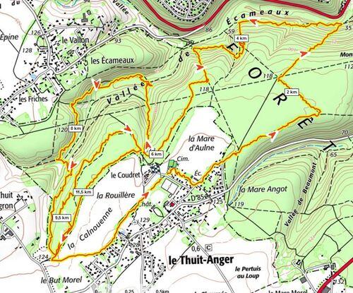 Randonnée 6 le Thuit-Anger - Avril 2021