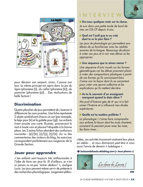 Pépite de blog, La Classe !