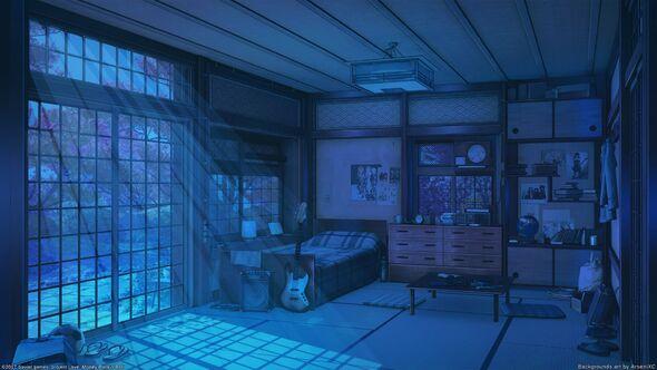 """Résultat de recherche d'images pour """"anime background bedroom snow"""""""