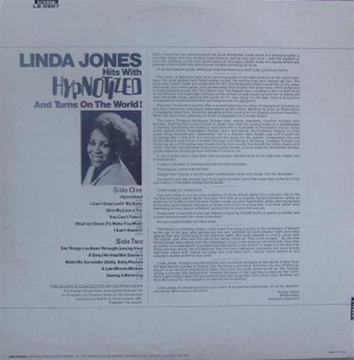 "Linda Jones : Album "" Hypnotized "" Loma Records LS 5907 [ US ]"
