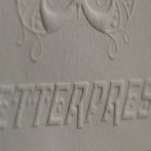 gaufrage letterpress