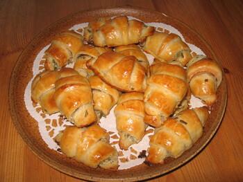Mini-Croissants au Saumon Fumé