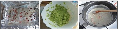 Filet de julienne, crème persillée, purée de brocoli