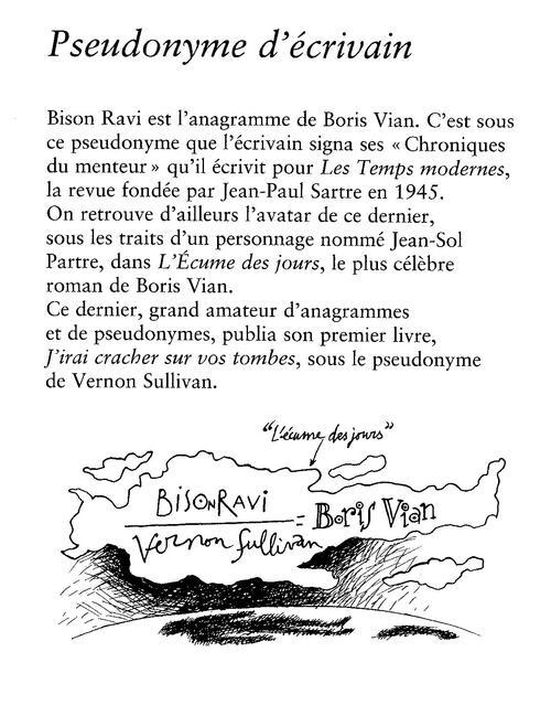 PSEUDONYME D'ECRIVAIN