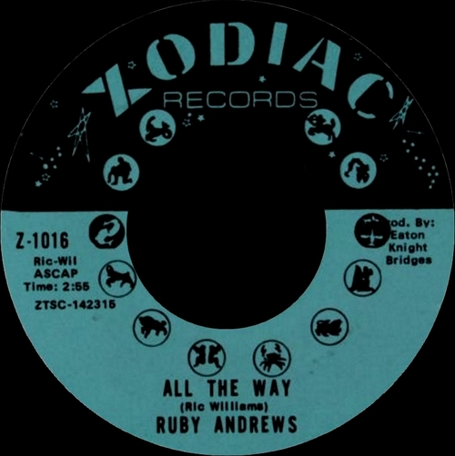"Ruby Andrews : Album "" Everybody Saw You "" Zodiac Records ZS-1001 [ US ]"