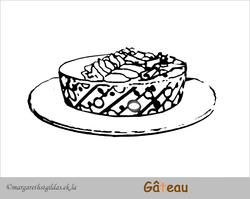 Coloriage gâteau